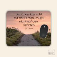 Bedrucktes Mousepad Zitat Johann Wolfgang von Goethe Gedanken Motivation Geist und Geschenk eckige Form