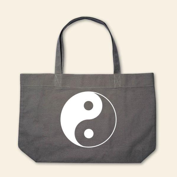 Canvas Stofftasche Yin Yang Geist und Geschenk Grau Weiß