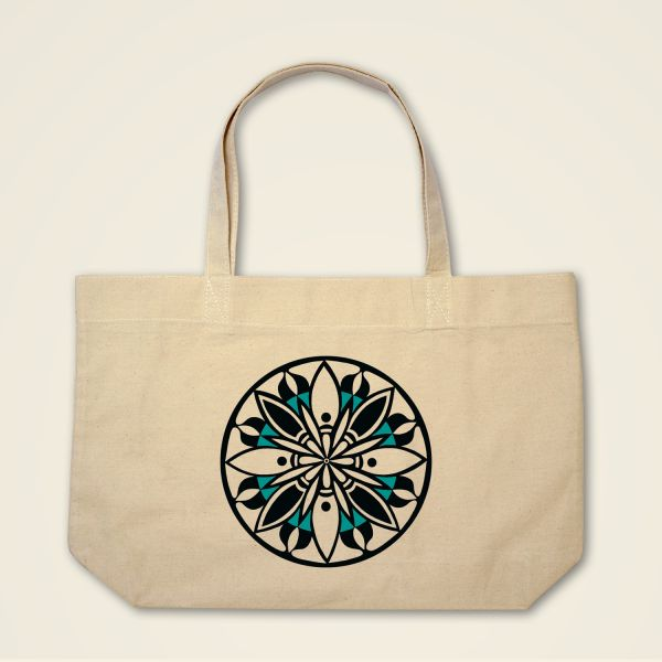 Boatshape Stofftasche Natur 'Blooming'