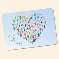 Bedrucktes 6-teiliges Tischset Yoga Love  Geist und Geschenk