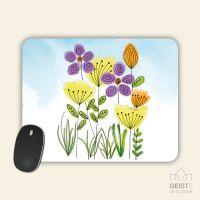 Mousepad bedruckt Blumenwiese Geist und Geschenk