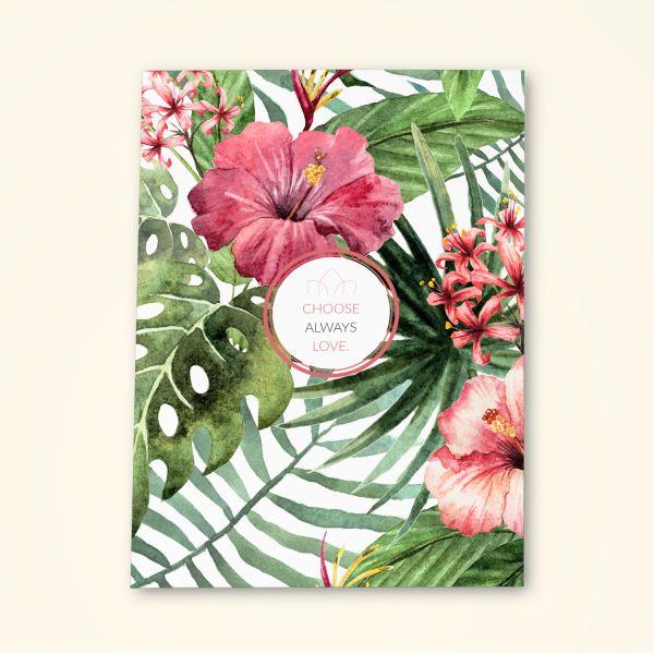Grusskarten Set Floral Design 'Choose always love'
