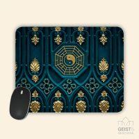 Mousepad bedruckt Yin Yang Gold Geist und Geschenk