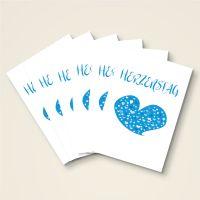 Grusskarten Set 'Herzenstag''