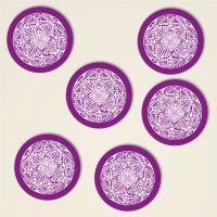 Untersetzer Set Mandala Motiv 'Shamanic' Violett