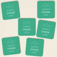 Always choose love farbig eckig gruen
