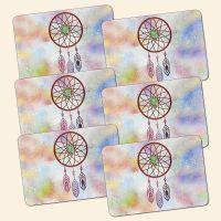 Bedrucktes 6-teiliges Tischset Dreamcatcher Quatro  Geist und Geschenk