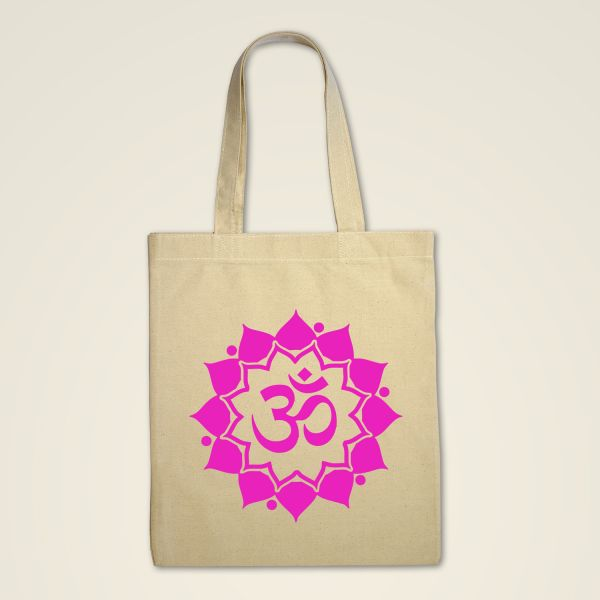 Stofftasche Natur 'Om Mandala'