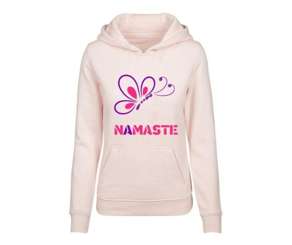 Hoodie Damen bedruckt Big Butterfly Namaste Geist und Geschenk