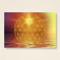 Postkarten Grußkarte Blume des Lebens Motiv Manipura bedruckt Geist und Geschenk