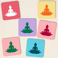 Untersetzer aus Kork Buddha Mix-Pastell Geist und Geschenk