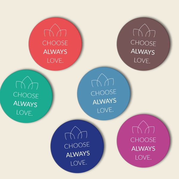Untersetzer Set 'Choose always love' Komplettset