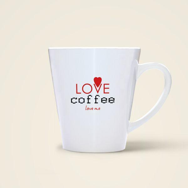 Kaffeetasse mit Spruch bedruckt love coffee Geist und Geschenk Rückseite