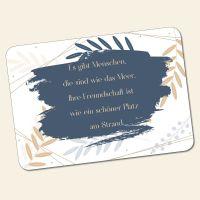 Bedrucktes 6-teiliges Tischset Freundschaft  Geist und Geschenk