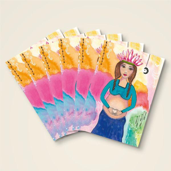 Grusskarten Set 'Loving Hearts'