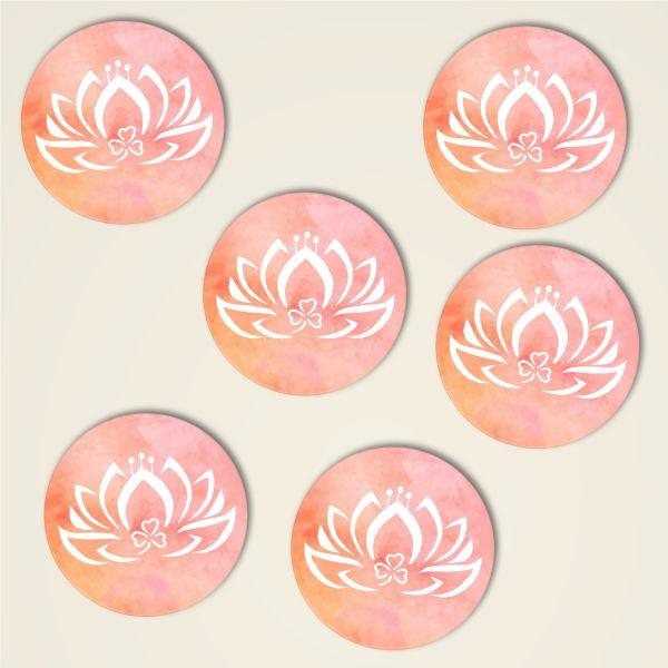 Untersetzer Set 'Dreiblatt-Lotus' klassisch