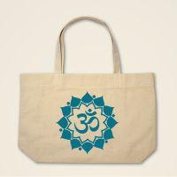 OM-Mandala Stofftasche Stoffebutel bedruckt grün