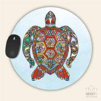 Mousepad rund Turtle Geist und Geschenk