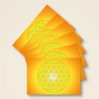 Postkarten Grußkarte Blume des Lebens Motiv Leuchtender Juwel bedruckt Geist und Geschenk