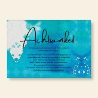 Bedrucktes Grußkarten- Set Achtsamkeit Geist und Geschenk