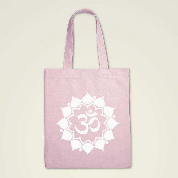 Stofftasche rosa 'Om Mandala'