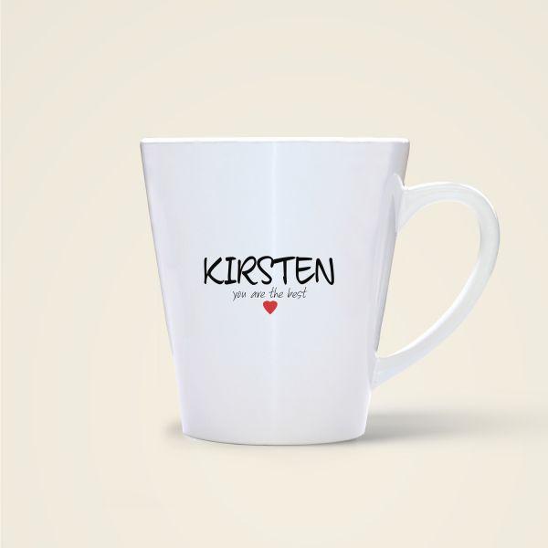 bedruckte Namenstasse Geist und Geschenk shop Kirsten