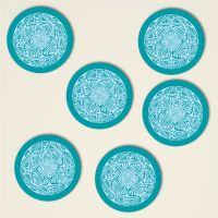 Untersetzer Set Mandala Motiv 'Shamanic' Türkis (2-farbig)