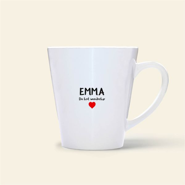 bedruckte Namenstasse Geist und Geschenk shop Emma