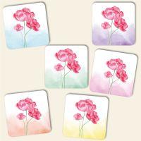 Untersetzer Set 'Aquarell- Blumen- Mix'-Copy