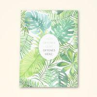 Grusskarten  Set Floral 'Offener Geist - Offenes Herz'
