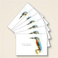 Grußkarten-Set 'Wohin du auch gehst..' Zitat Weisheit Aquarell Geist und Geschenk