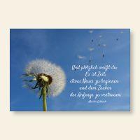 Grußkartenset Pusteblume Meister Eckart Zauber des Anfangs Geist und Geschenk