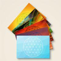 Postkarten Grußkarten Blume des Lebens Flower of Life Energy Geist und Geschenk