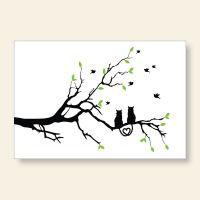 Bedrucktes Grußkarten- Set  Katzenliebe Geist und Geschenk