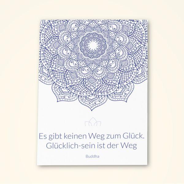 Grusskarten Set 'Glücklich sein'