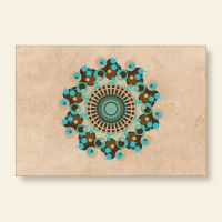 Bedrucktes Grußkarten- Set Mandala Marmor Geist und Geschenk