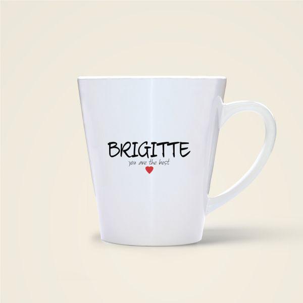 Tasse bedruckt mit Namen Brigitte