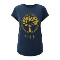 Damen T-Shirt bedruckt Tree of Life Geist und Geschenk