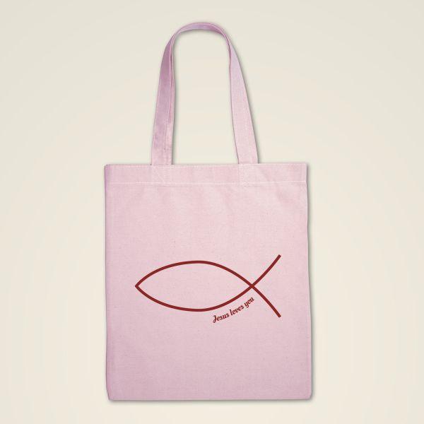 Stofftasche 'Fischsymbol'