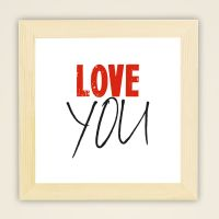 love you wandbild minder kunst deko