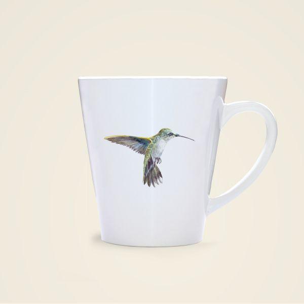 Aquarell Vogel Motiv Tasse bedruckt Geist und Geschenk