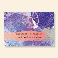 Grußkartenset bedruckt Siebenmal hinfallen, achtmal aufstehen Geist und Geschenk