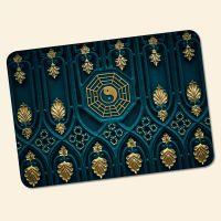 Bedrucktes 6-teiliges Tischset Yin Yang Gold  Geist und Geschenk