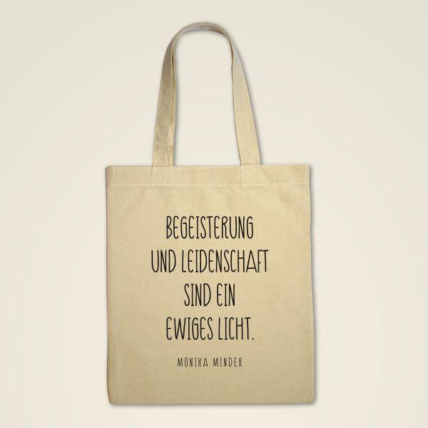 Stofftasche 'Begeisterung und Leidenschaft'