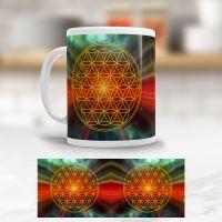 Tasse der Blume des Lebens 'Universum'
