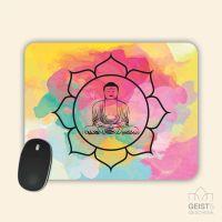Mousepad bedruckt Buddha Aquarell Geist und Geschenk