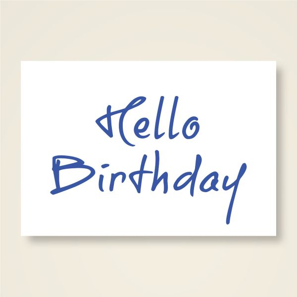 Grusskarten Set 'Hello Birthday'