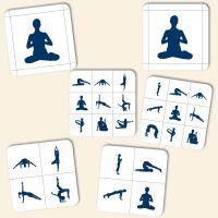 Bedruckte Korkuntersetzer 'Yoga Mix'   Geist und Geschenk eckige Form