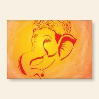 Bedrucktes Grußkarten- Set  Ganesha Geist und Geschenk