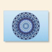 Bedrucktes Grußkarten- Set  Mandala Blue Geist und Geschenk